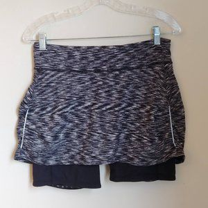 Athleta Black Spacedye Contender 2-in-1 Skort S